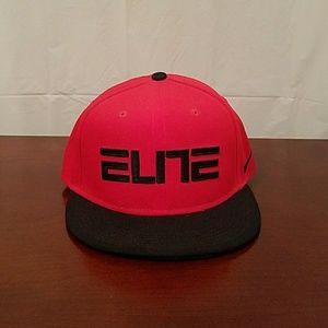 Nike True Elite Black Red Snapback Hat Cap